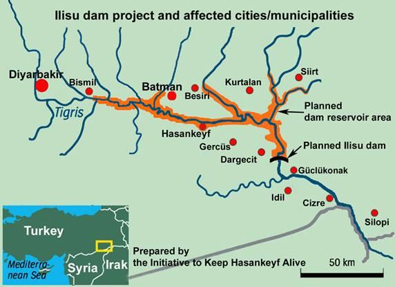 Image result for hasankeyf haritası