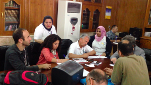 Activists of the Save the Tigris Campaign meet with the Baghdad Provincial Council at the Iraq Social Forum, 27 September 2013.