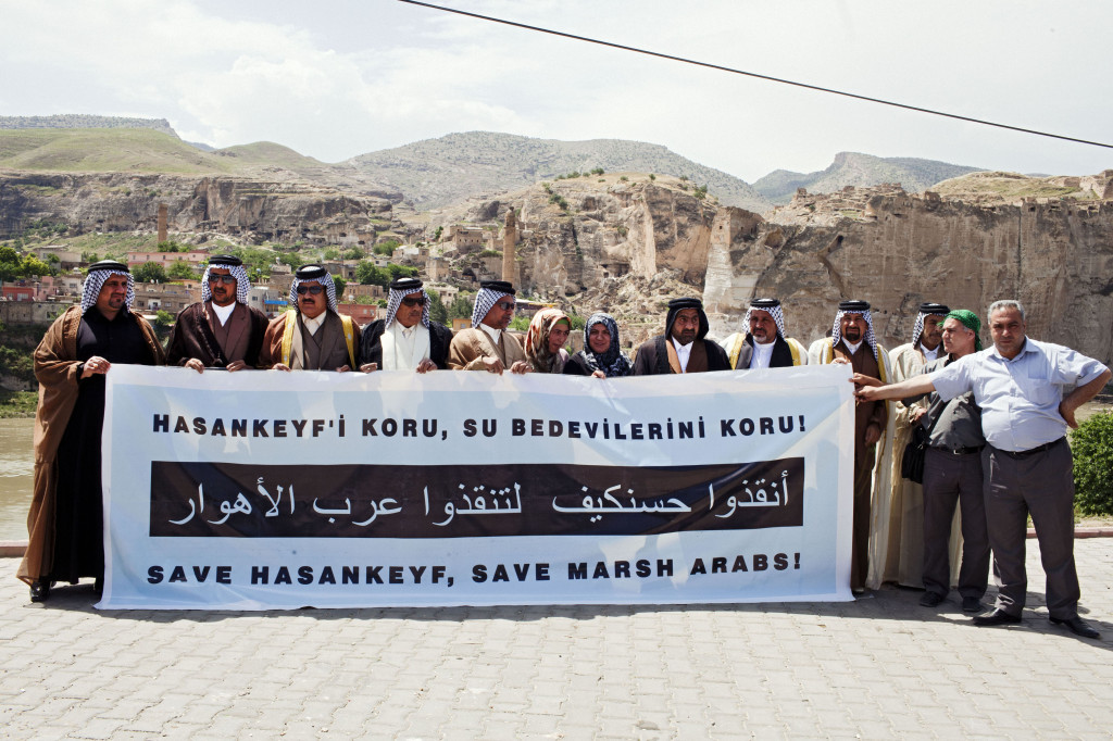 Marsh Arabs protest against Ilisu Dam in Hasankeyf, Turkey, May 2012