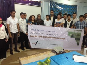 In Missan with the local volunteer group, Ana Missan Team, 28 June 2013.