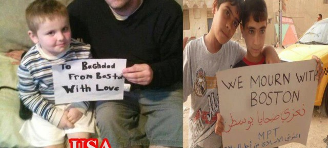From Baghdad to Boston, We Reject Violence!