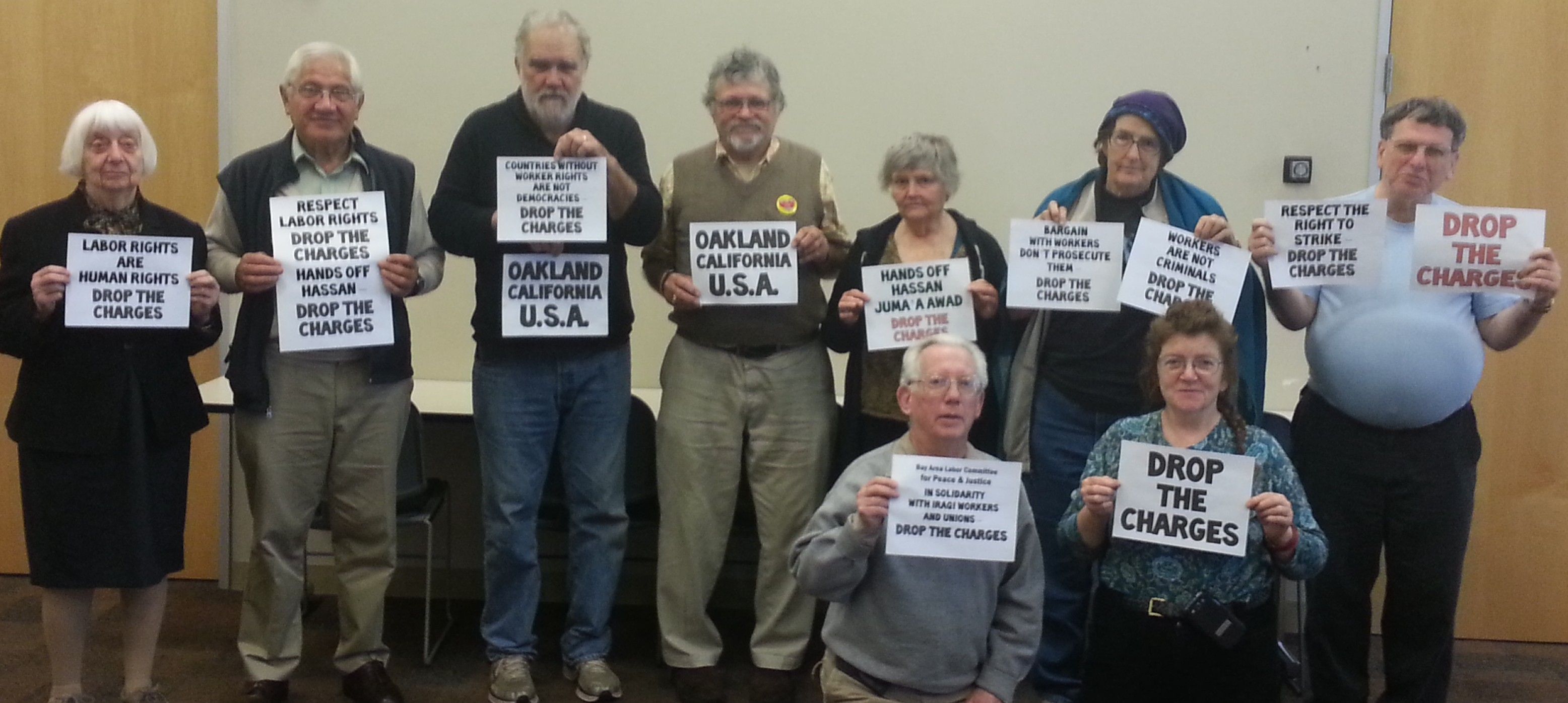 Oakland Labor Committee Shows Solidarity with Iraqi Oil Union Leader