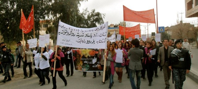 Women Rights Activists in Kurdistan: March 8th-No for Bargaining on Women's Rights
