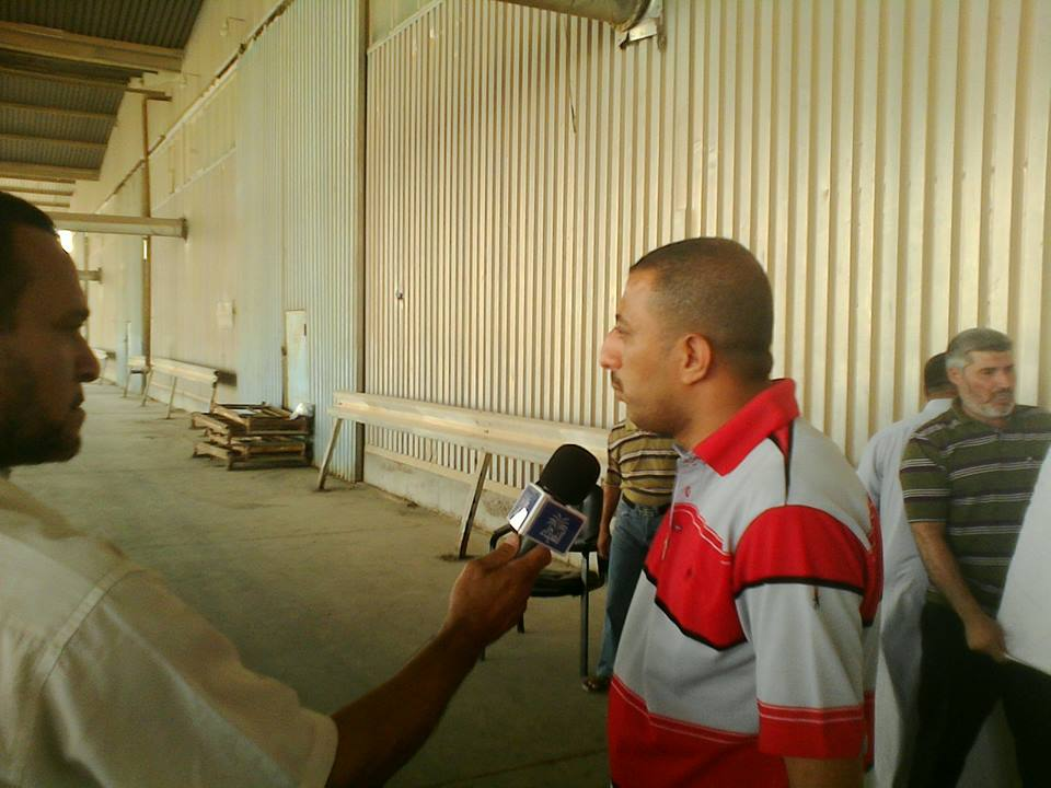 TV channels interview with the representatives of the workers Union