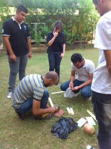 ISF volunteers working in Baghdad July 2013