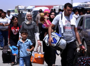 IRAQ-UNREST-MOSUL-DISPLACED