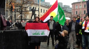 Nibras in  a demonstration for Iraq in Oslo