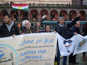 Quazi Baybi in Oslo Demonstrating with Iraq