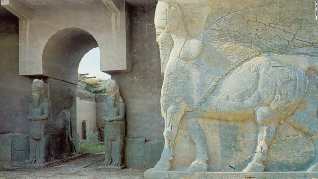 The ancient Assyrian city of Nimrud in Iraq.