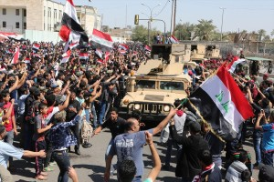 Peacefully and in collaboration with security forces, thousands of Iraqi protestors, have entered the Green Zone in Baghdad