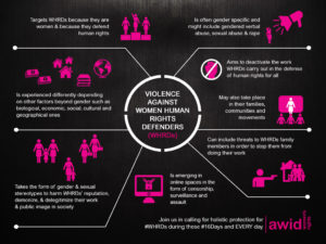 A General Graphic on the Protection of WHRDs in the world