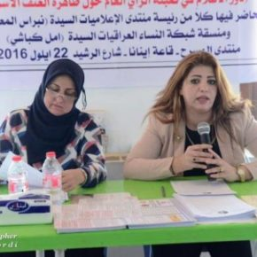 The Iraqi Women's Journalists Forum and the Iraqi Women's  Network discuss domestic violence
