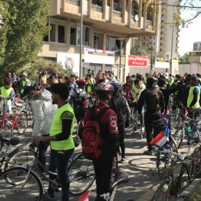 Day for Bicycles in the Center of Baghdad