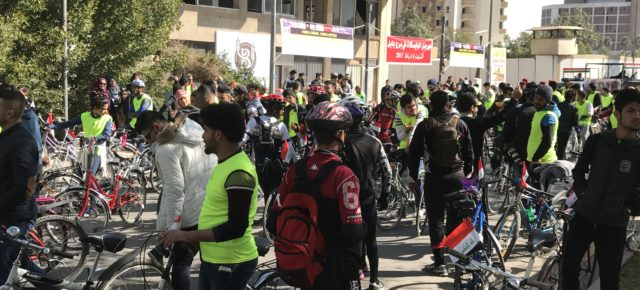 Baghdadi Day for Bicycles in the Center of Baghdad
