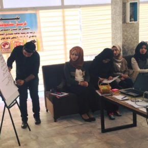 a Workshop on The Principles of Voluntary Work Organized by Mashhoofna Team in Dhi Qar