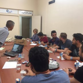 ISF's Interpretation Team Trains in Nonviolent Strategies