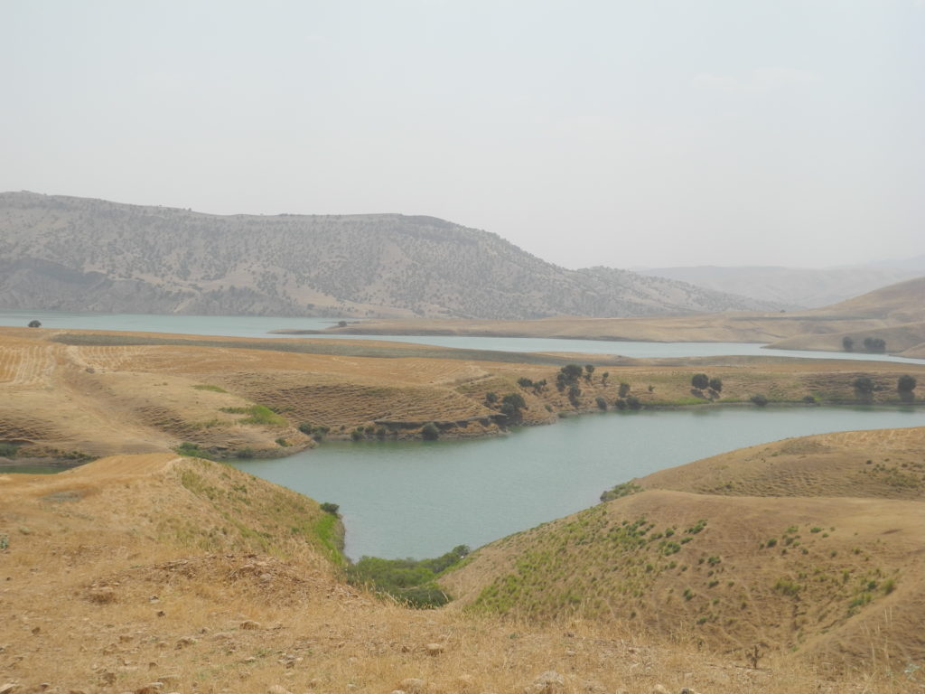 Rising water levels in this lake due to increased water flows from Iran.