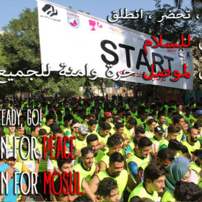 "In the streets of Mosul: a run for peace , organized by ""Sports Against Violence"""