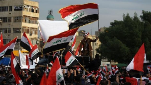 Iraqi Demonstrators Call to Keep Iraq Away from the American-Iranian Conflict