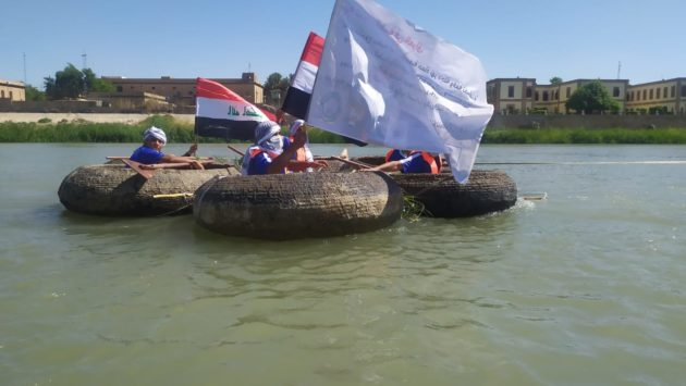 Traditional Boats Adorn the Tigris River to Celebrate the Efforts of Medical Personnel in Confronting COVID